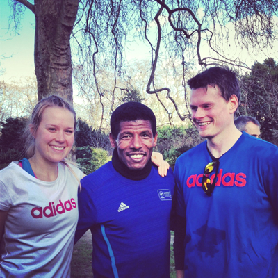 Running with Haile Gebrselassie