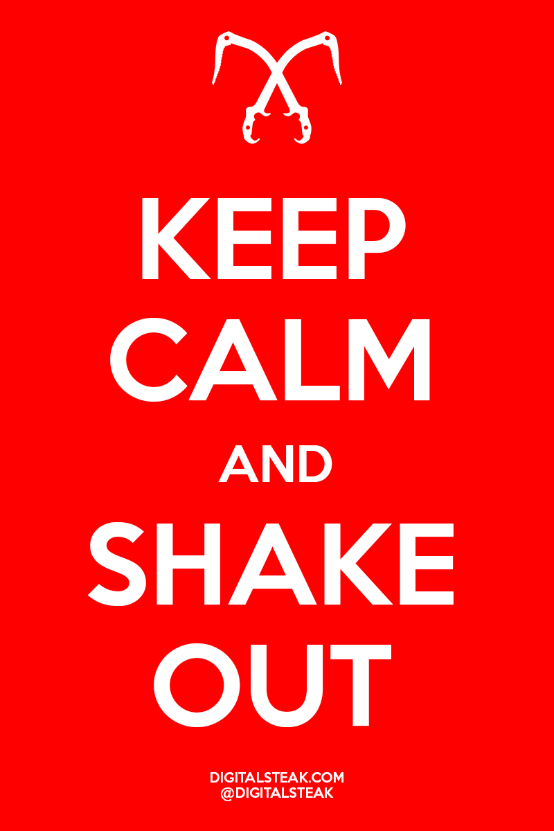 Keep Calm and Shake Out