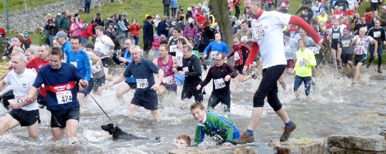 The infamous Dovedale Dash river crossing