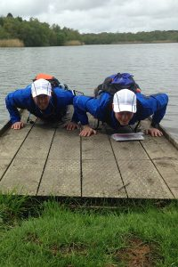Some press ups while running London to Brighton