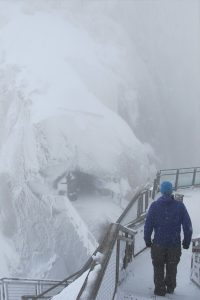 Very bad, very Scottish weather up on the Aiguille du Midi