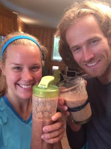 Gabo and Sophie with post kettlebells shakes