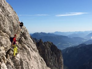 Climbing the via feratta