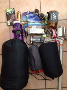 Microadventure supplies