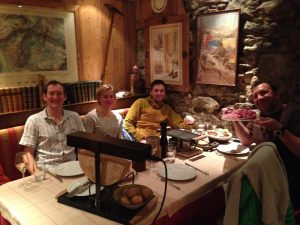 Dinner with friends at La Caleche