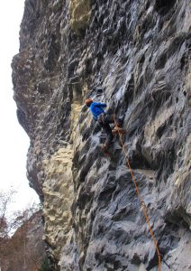 Drytooling on a bad weather day