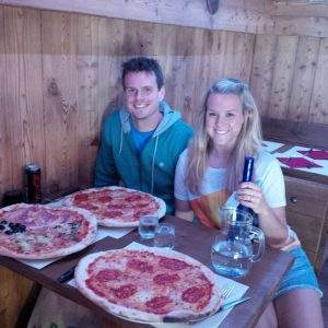 Pizza in Italy!