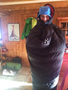 The ultra light L.I.M down sleeping bag