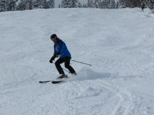 Feeling like a proper skier with proper turns!