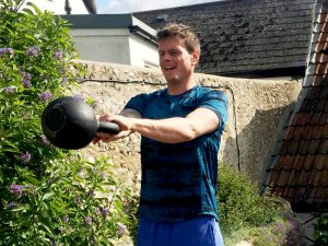 High rep kettlebell swings