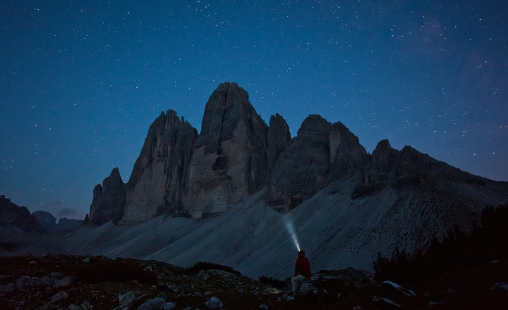 Tre Cime at night. Photo © Ollie Griffiths