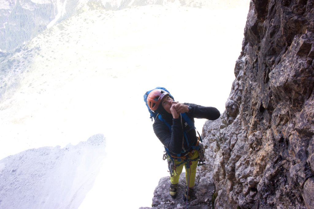 North Faces are cold..! Photo © Tim Howell