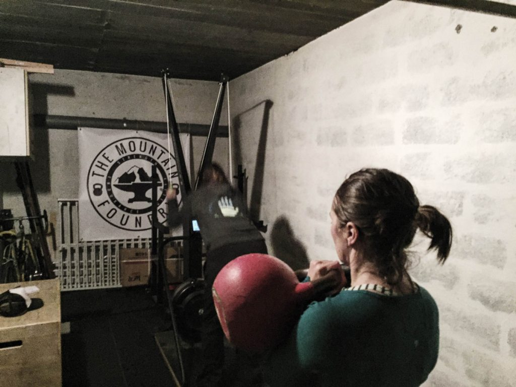 Lindsey and Heather training together