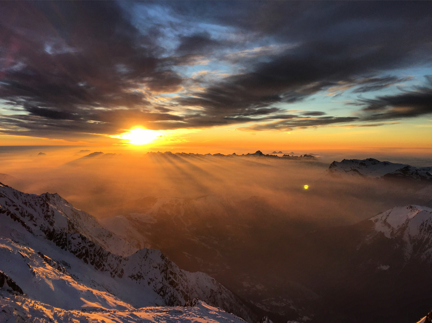 Sunset from the Refuge de Cosmiques