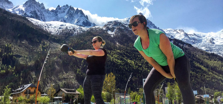 Kettlebell classes in Chamonix