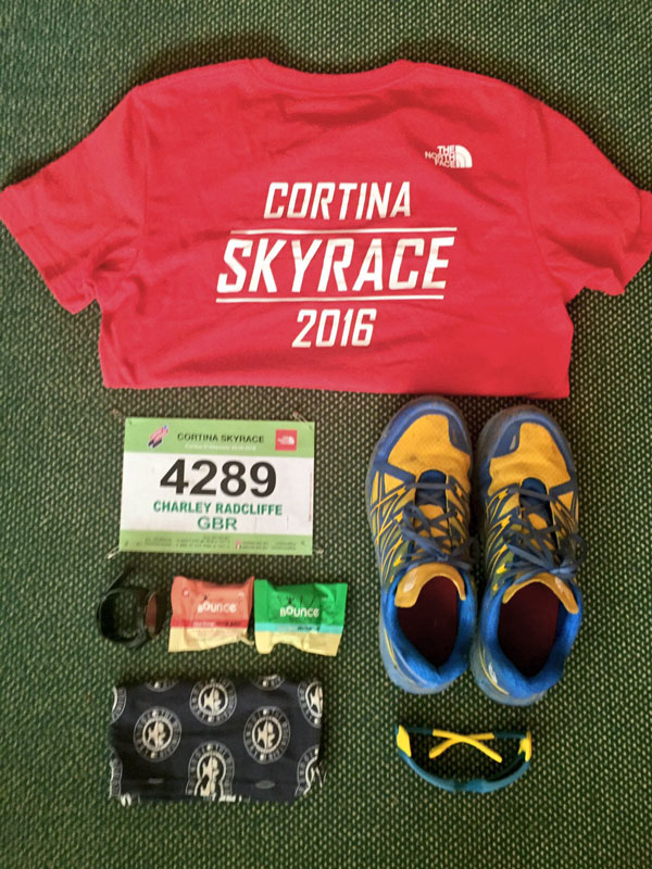 My kit for the Cortina Skyrace