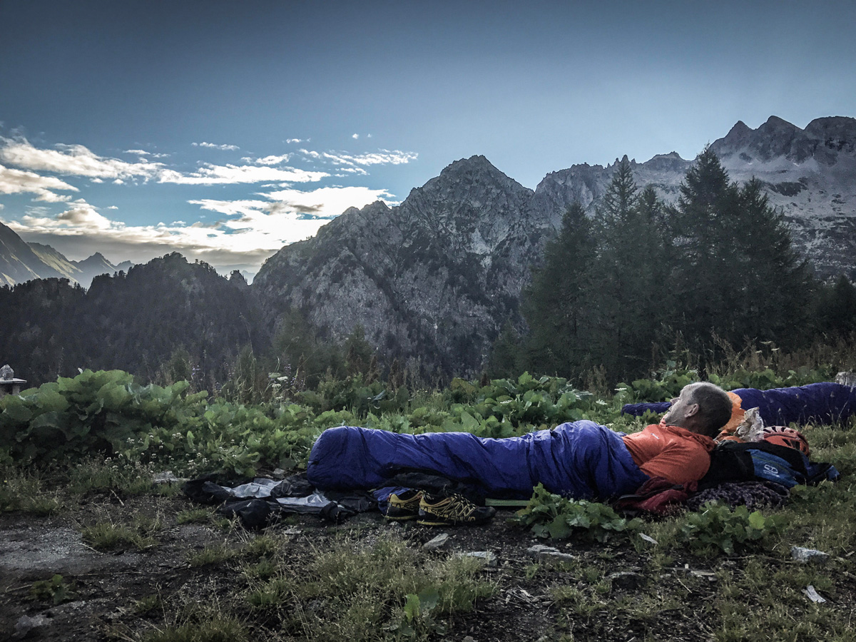 Letting it all sink in at our last bivouac.