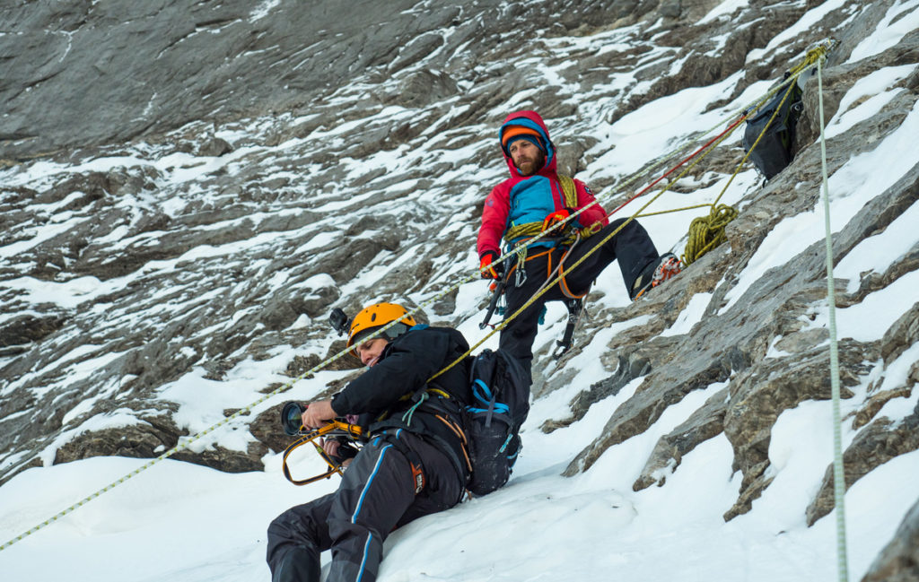 Filming on the north face of the Eiger was pretty cool..