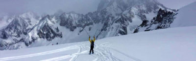 Skiing the Vallee Blanche for the first time